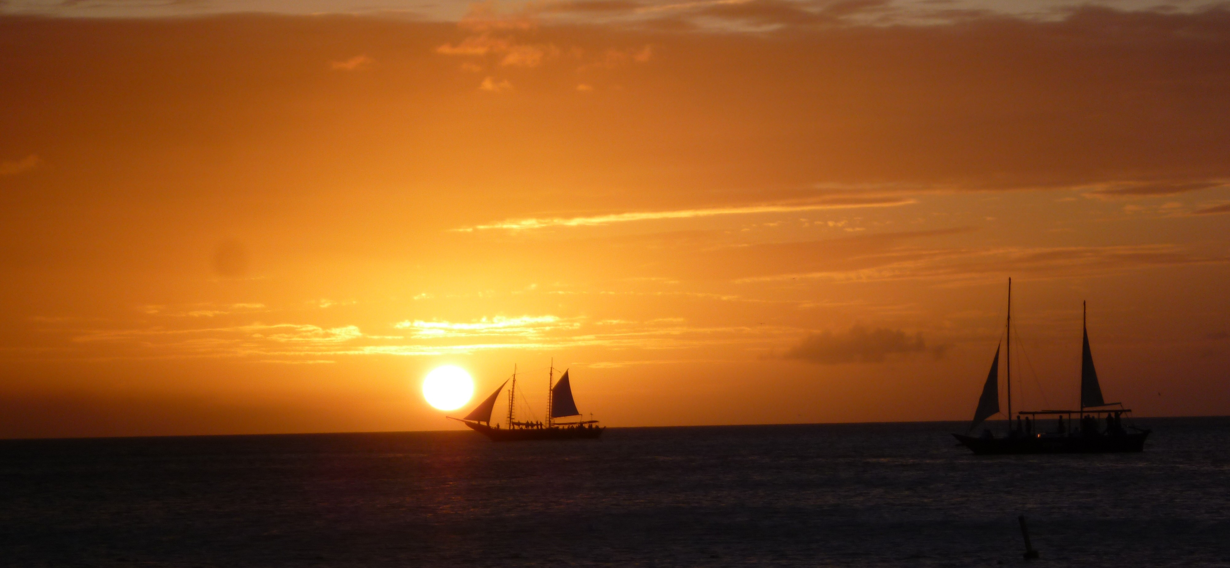 Sunset sailing Aruba, Caribbean