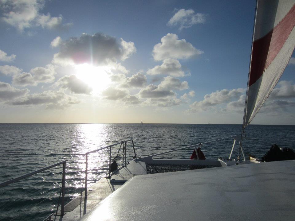 catamaran in Aruba, Caribbean