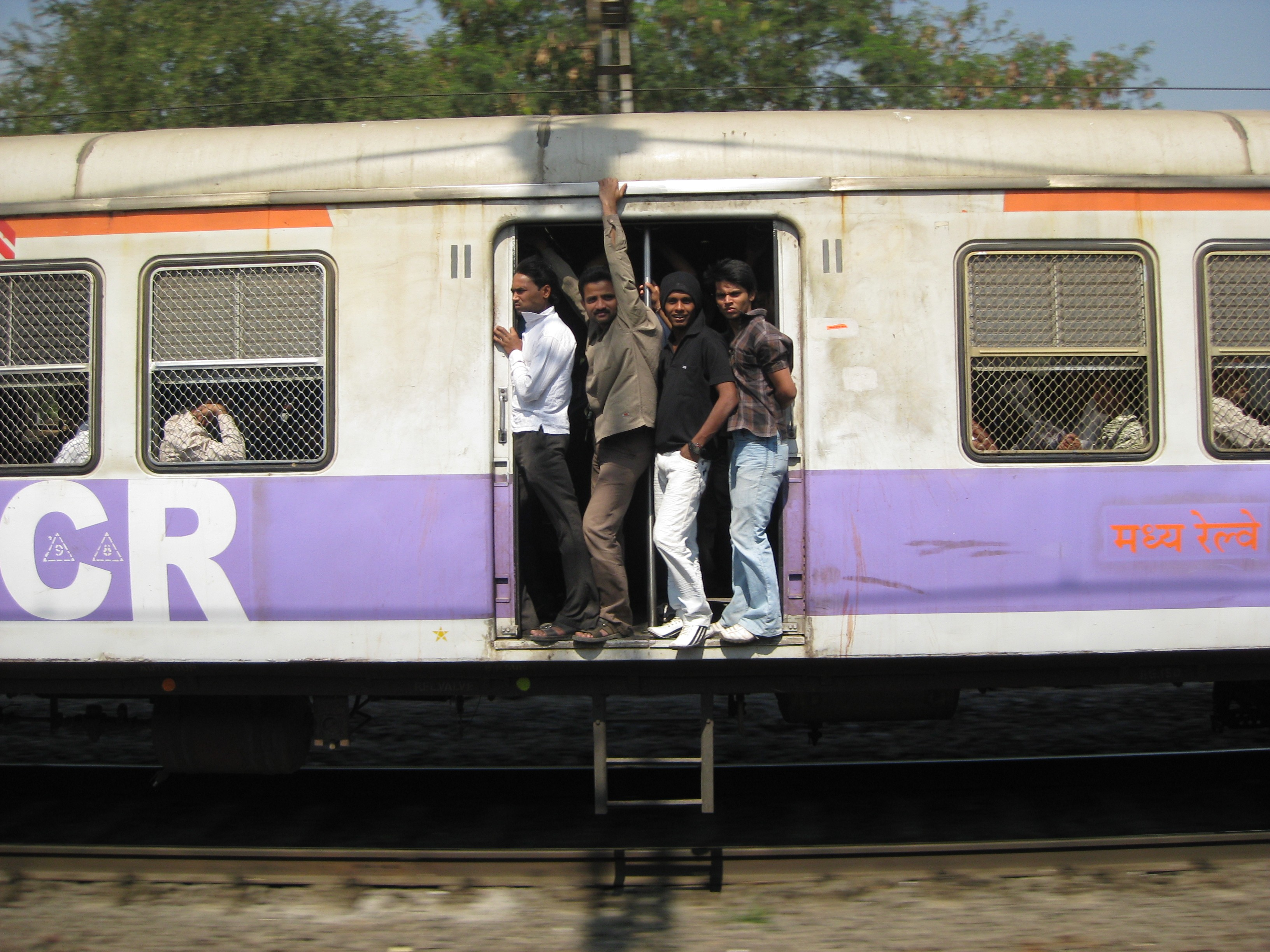 overcrowded train in India