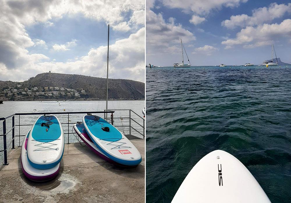 paddleboarding in Moraira