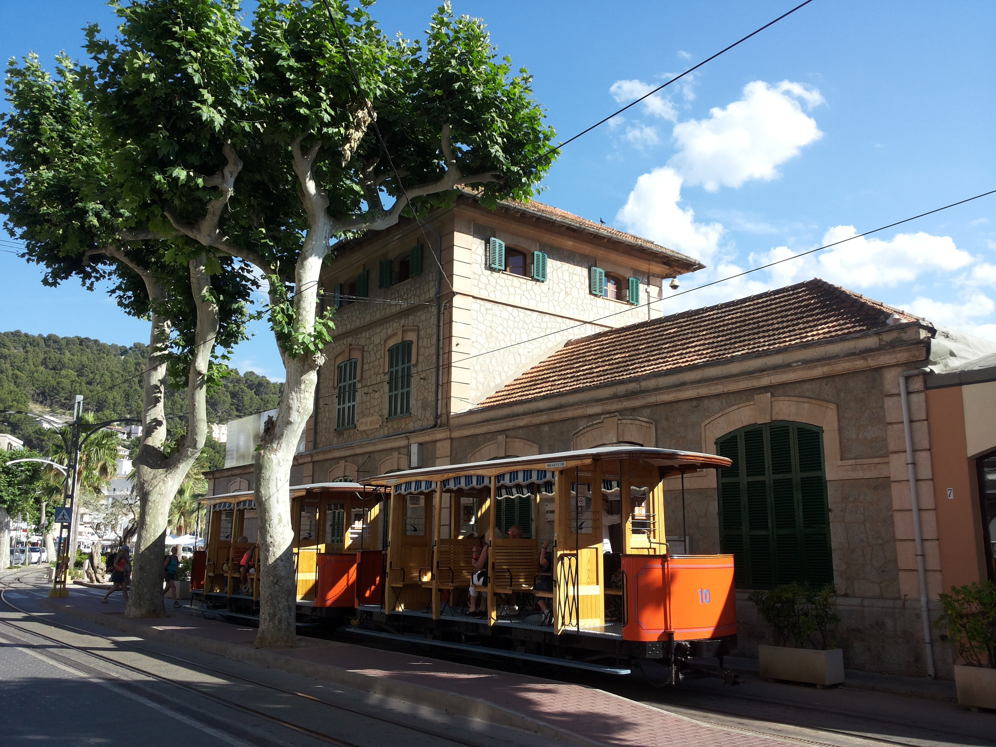 vintage tram from Soller to Port de Soller