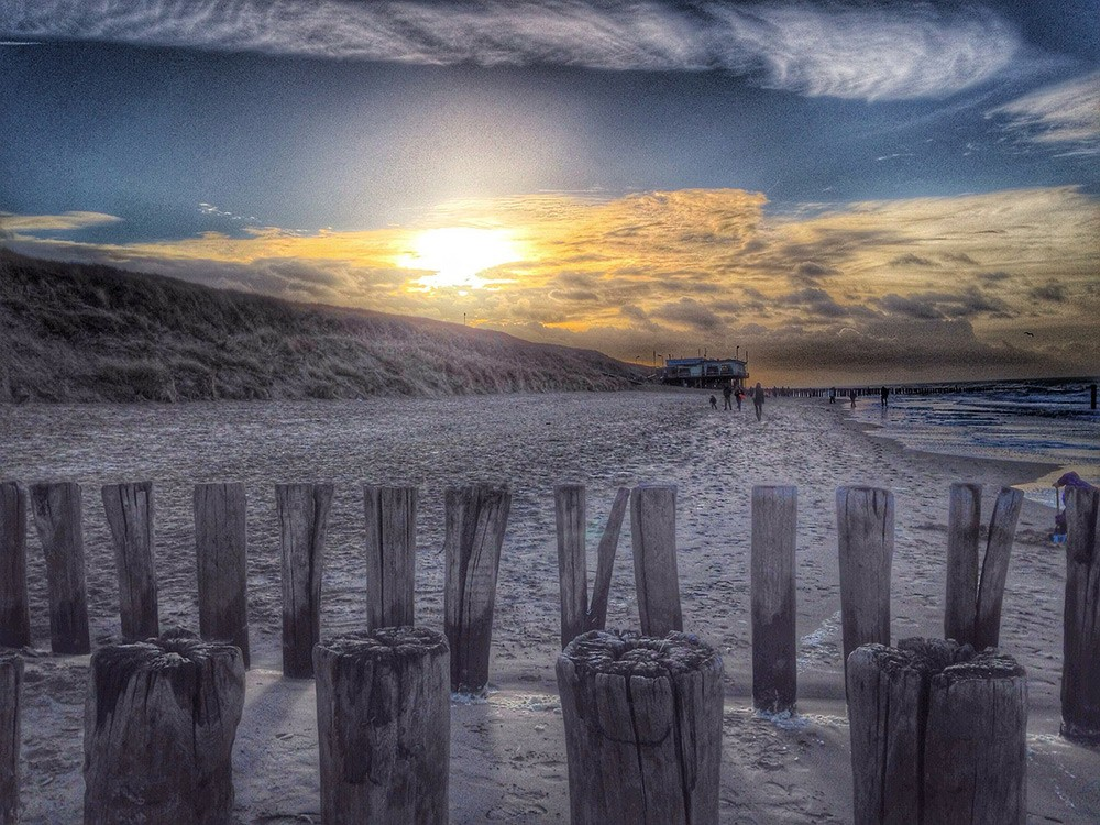 Domburg beach, Zeeland, the Netherlands