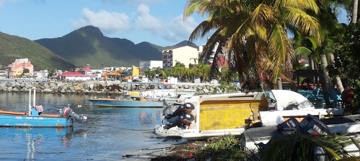 Hurricane Gonzalo in St Maarten, Caribbean