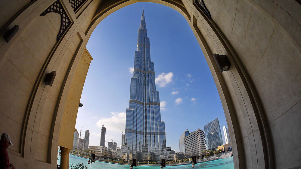 the tallest building in Dubai
