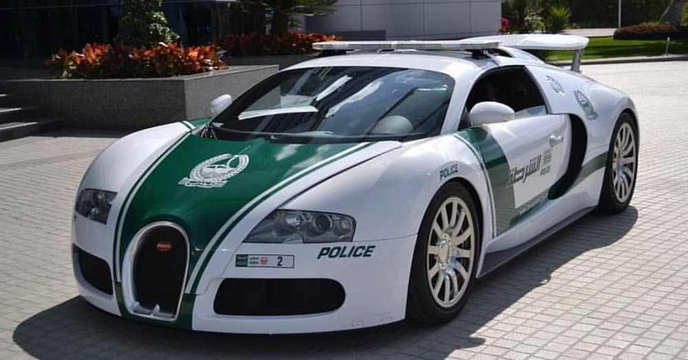 interesting fact about Dubai: police cars