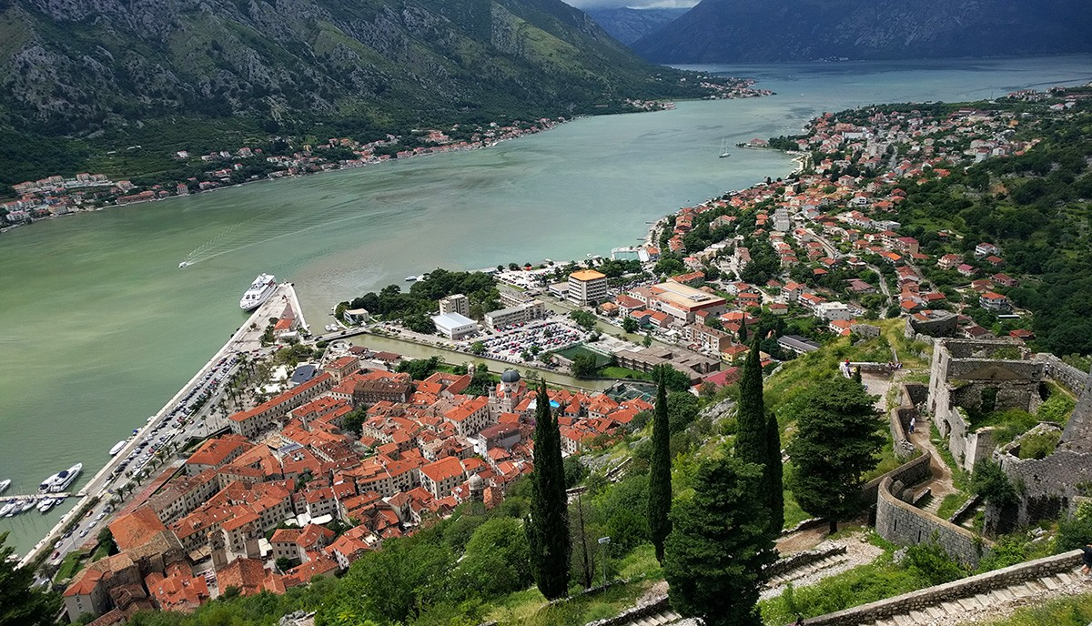 Kotor as seen from the fortress