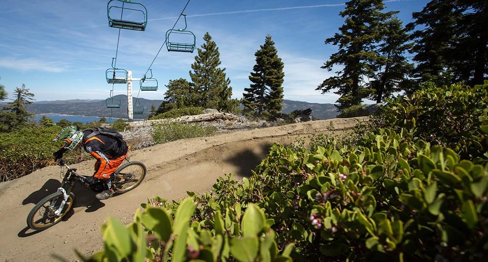 Big Bear Lake mountain bike park - weekend in Big Bear