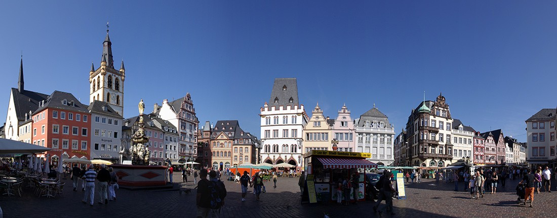 Visit Trier: the Hauptmarkt in Trier Germany