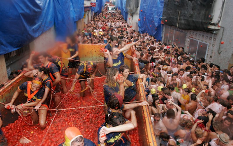Fun facts about Spain: La Tomatina