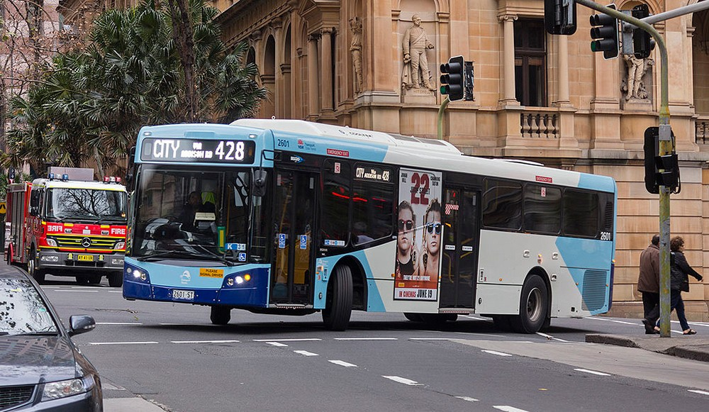 a bus in Sydney