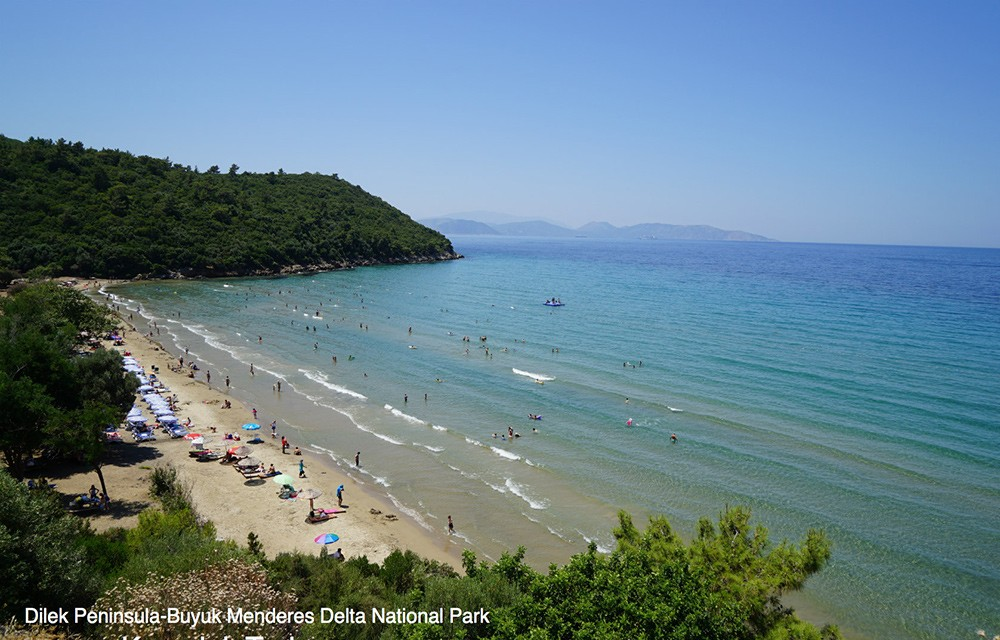 Kusadasi's beach in Turkey