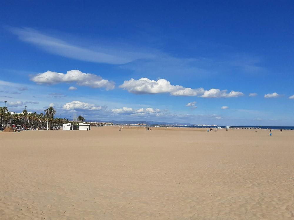 Valencia's main beach