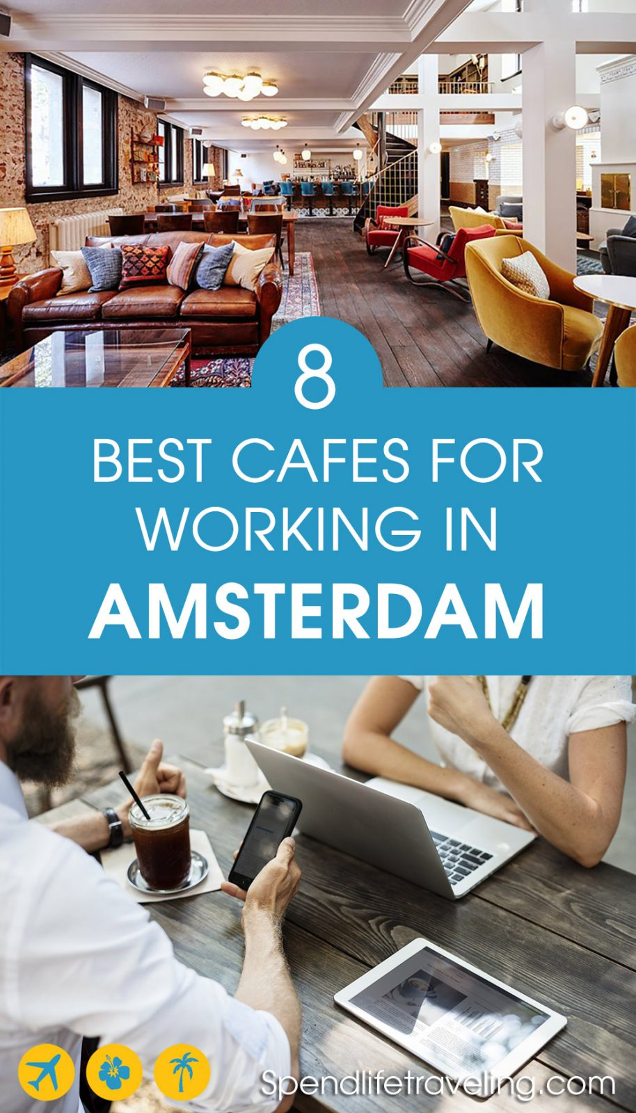 Are you looking for a cozy cafe with good Wifi to work from? Whether you work remotely, are a digital nomad or just need a break from the office, these are 8 of the best cafes for working in Amsterdam, the Netherlands. #Amsterdam #workremotely #bestcafes #traveltips