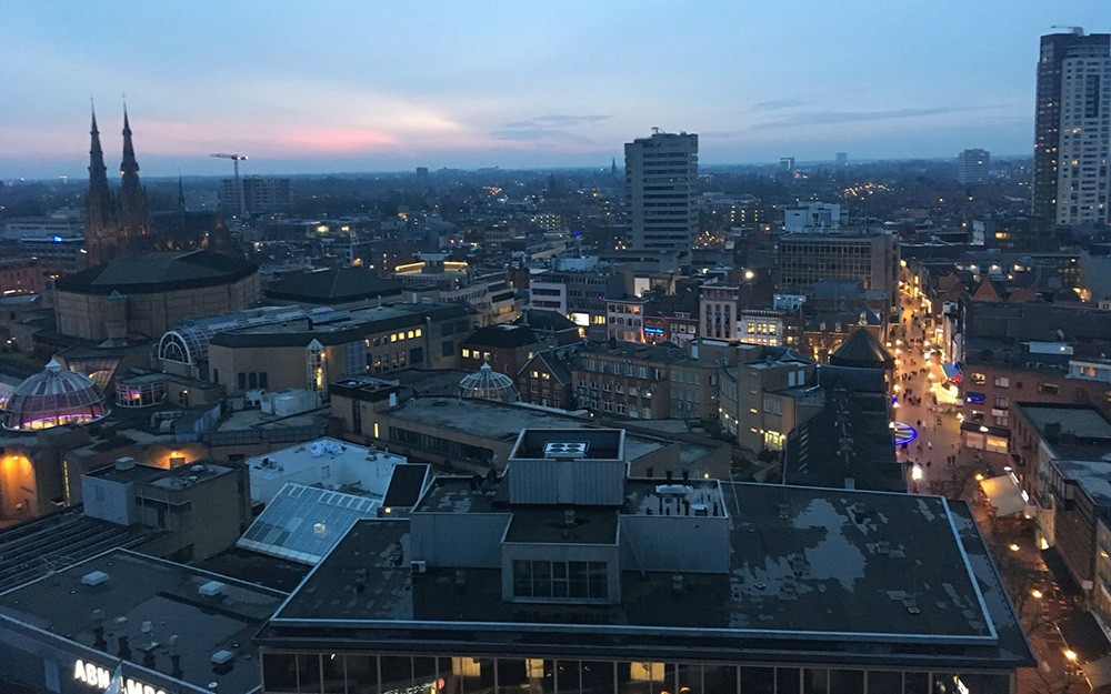 view from Vane skybar in Eindhoven - things to do