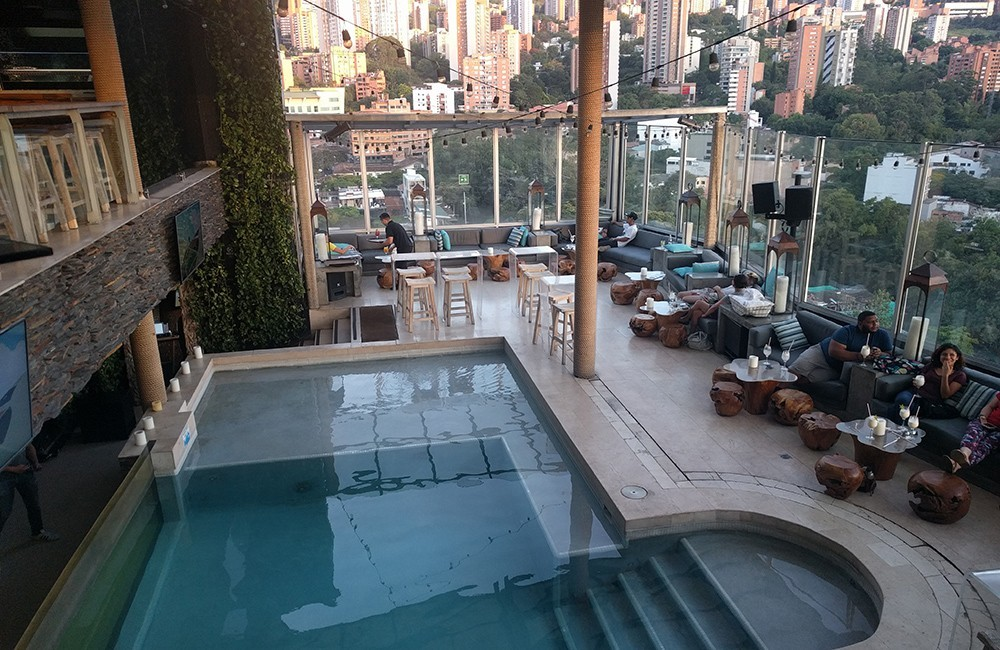 Best rooftop bars in Medellin, Colombia: Envy