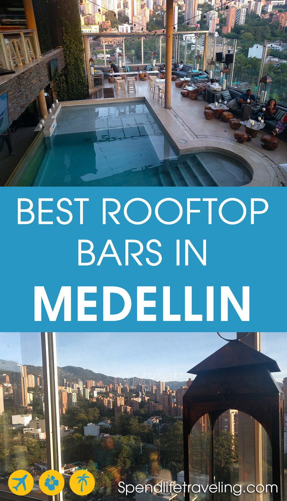 List of the best rooftop bars in Medellin, Colombia. Medellin, nicknamed City of Eternal Spring, is a perfect place to check out some great rooftop bars. From small, casual bars to trendy, upmarket venues and restaurants.