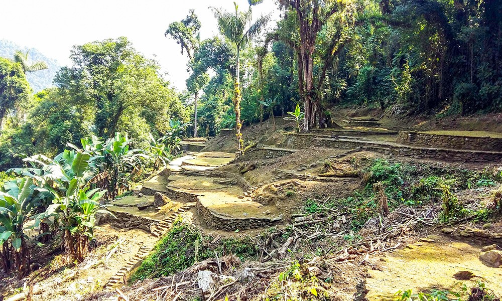 part of the Lost City in Colombia