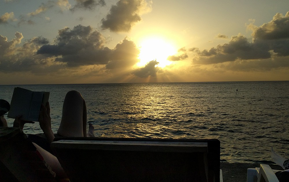 sunset on San Andres Island