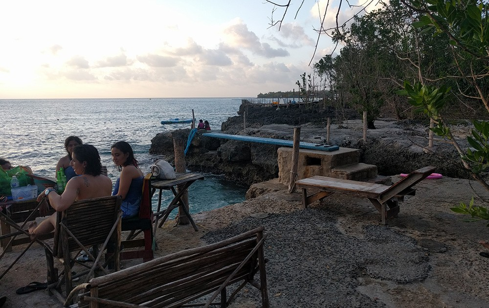 Cool bar with great sunset views on San Andres Island