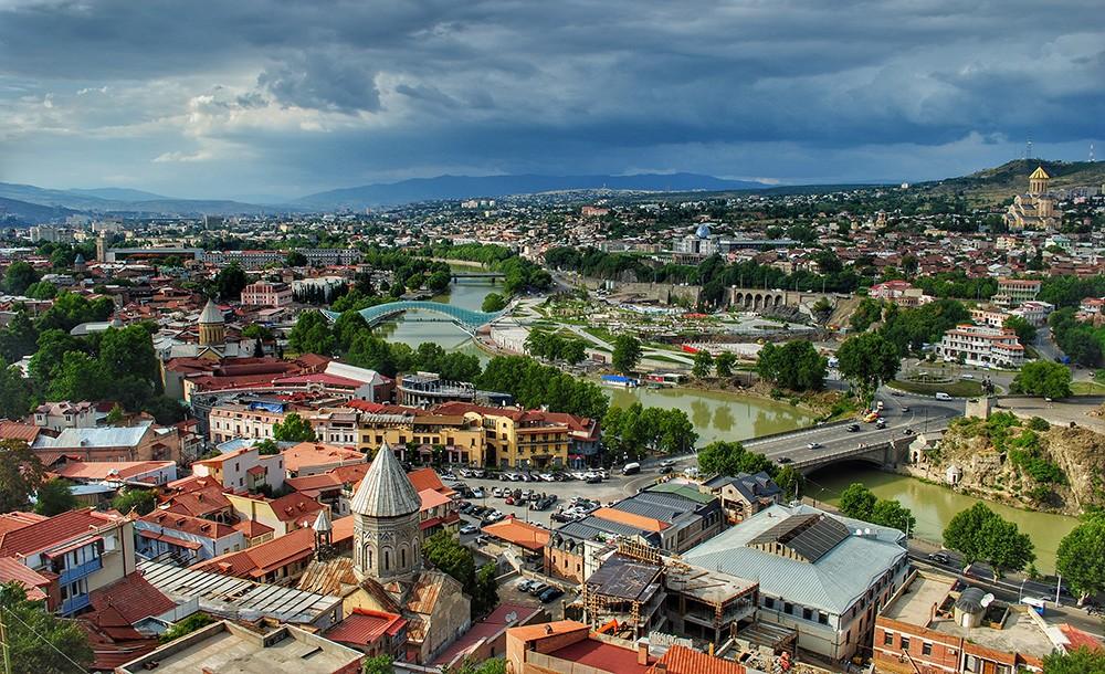 a view of Tbilisi, Georgia