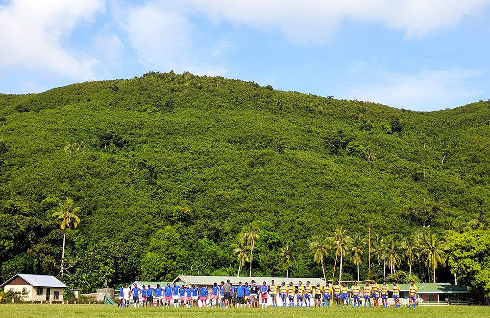 rugby players in Fiji