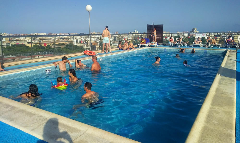 rooftop pool Valencia: Expo Hotel