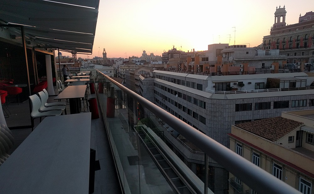 Best rooftop bar in Valencia: El Corte Ingles