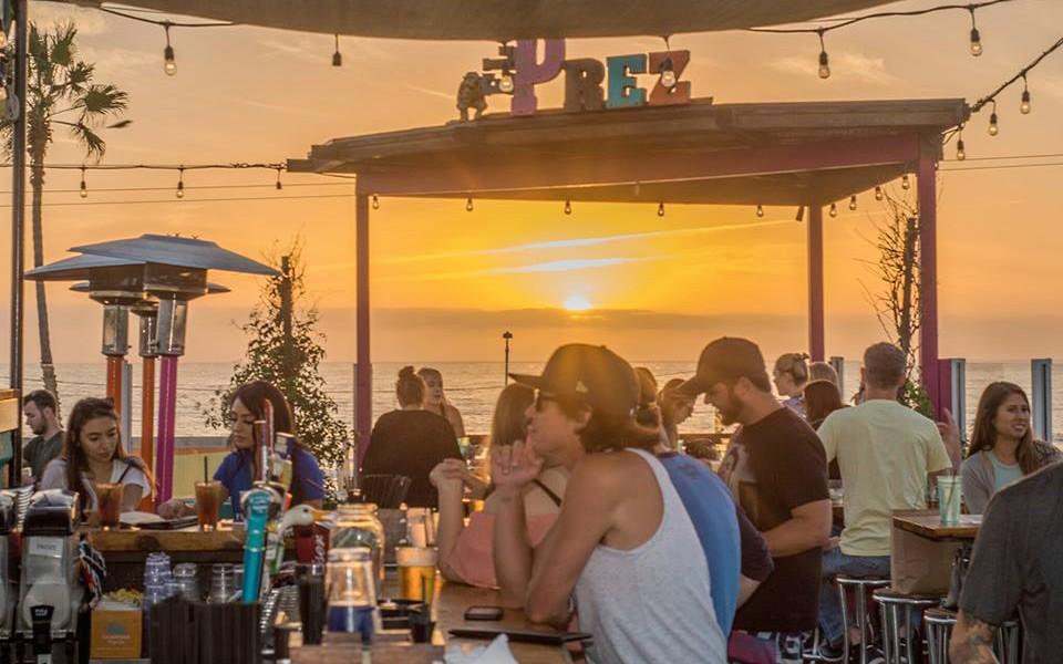 Rooftop bar in Pacific Beach, San Diego: El Prez