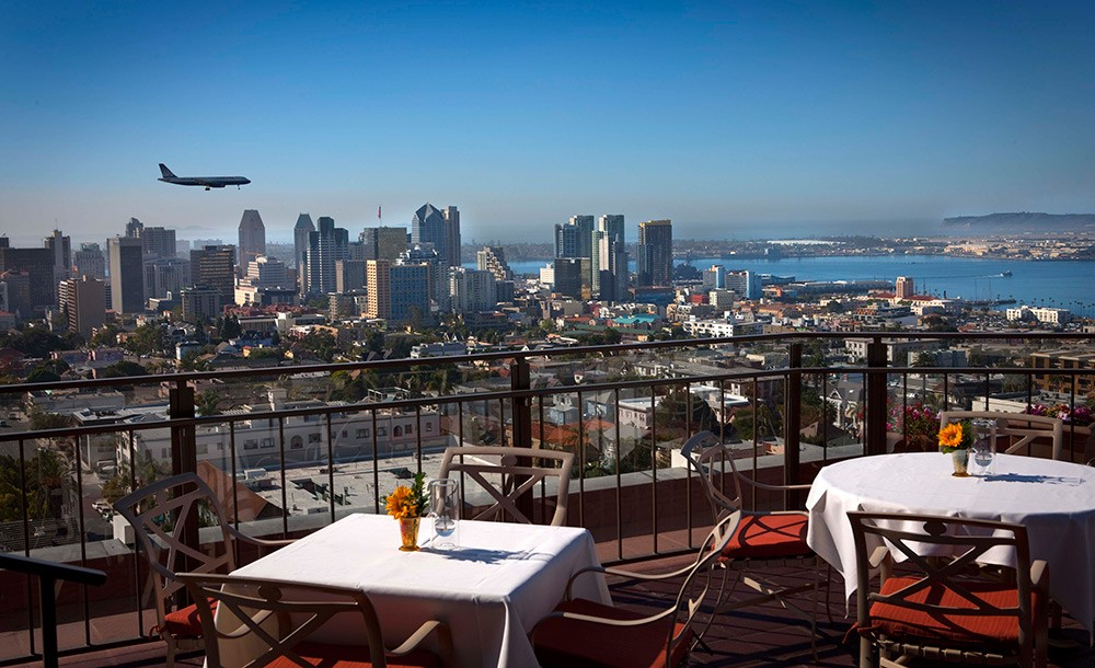 rooftop restaurant in San Diego: Mister A's