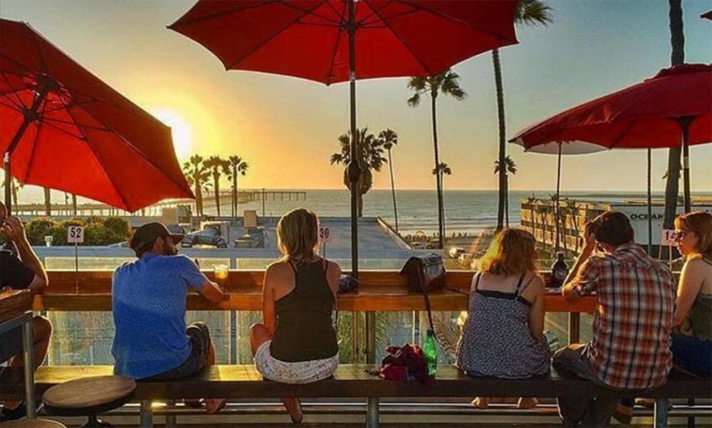 rooftop bar in Ocean Beach, San Diego: OB Brewery