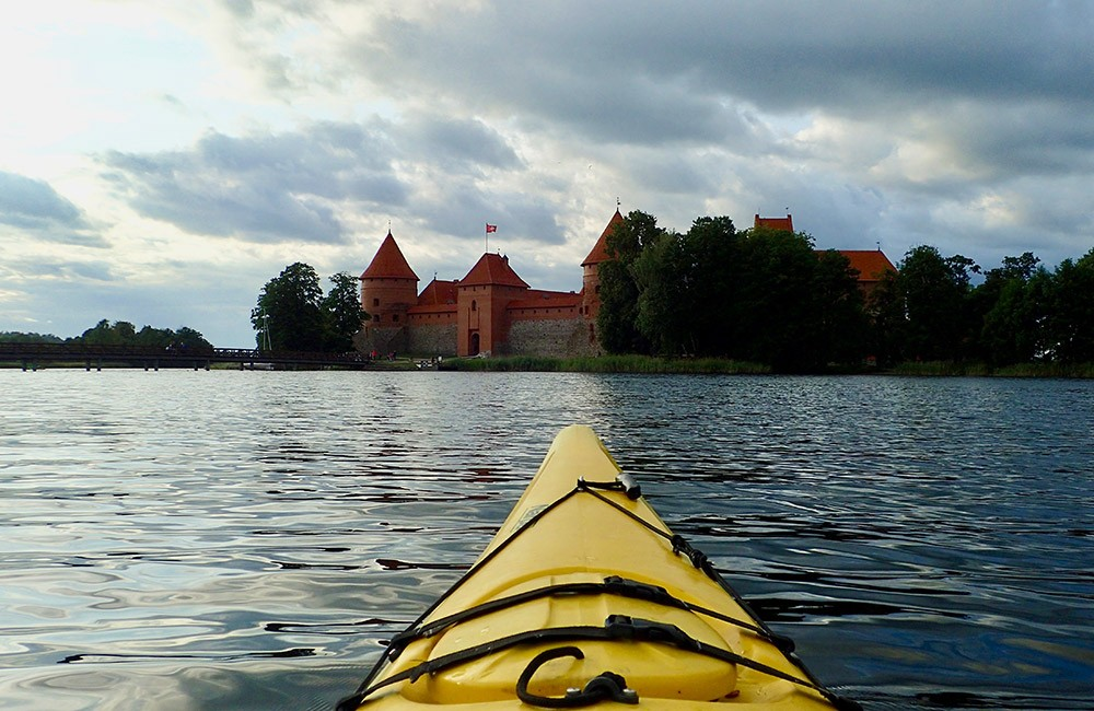 Sunset kayaking when visiting Lithuania