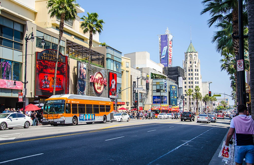 Things to do on a family day out in LA: Walk Hollywood Boulevard
