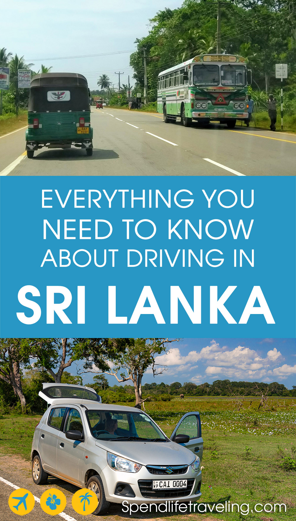 renting a car and driving in Sri Lanka