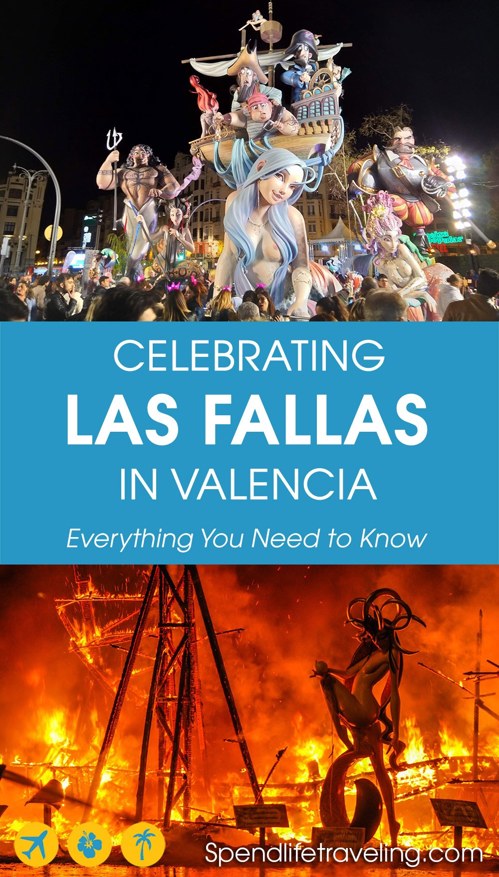 celebrating the Las Fallas festival in Valencia, Spain