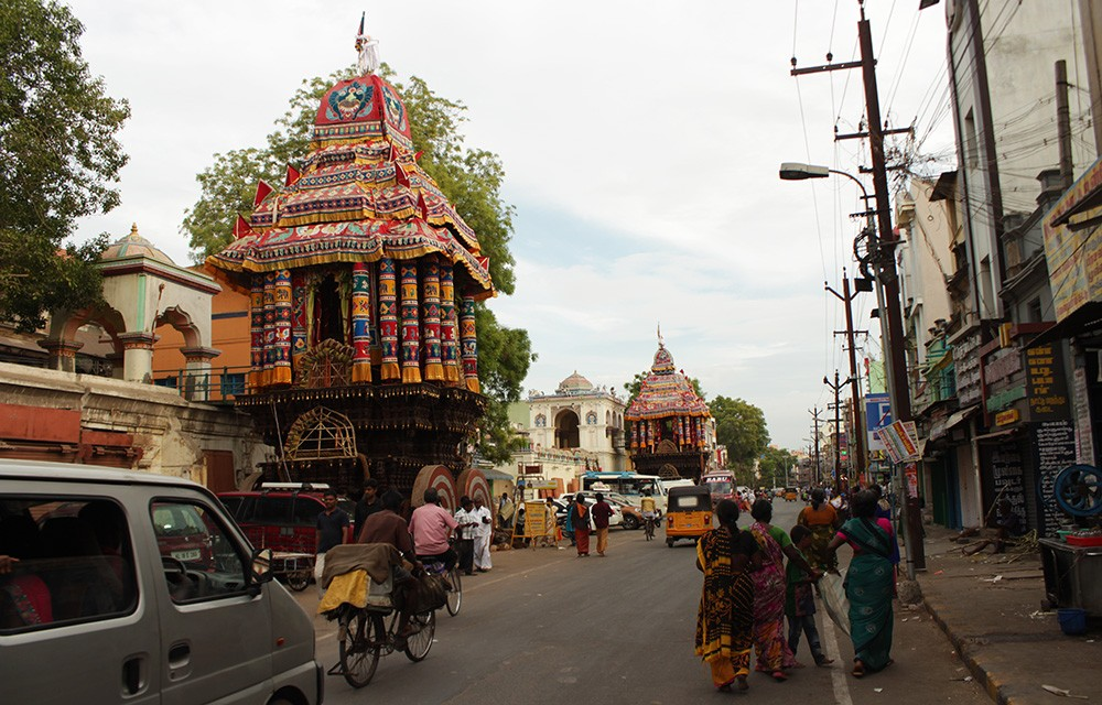 Temple cars - Madurai tourism places