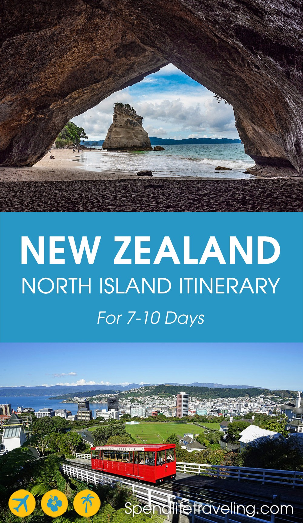 A practical 7 day New Zealand north island itinerary