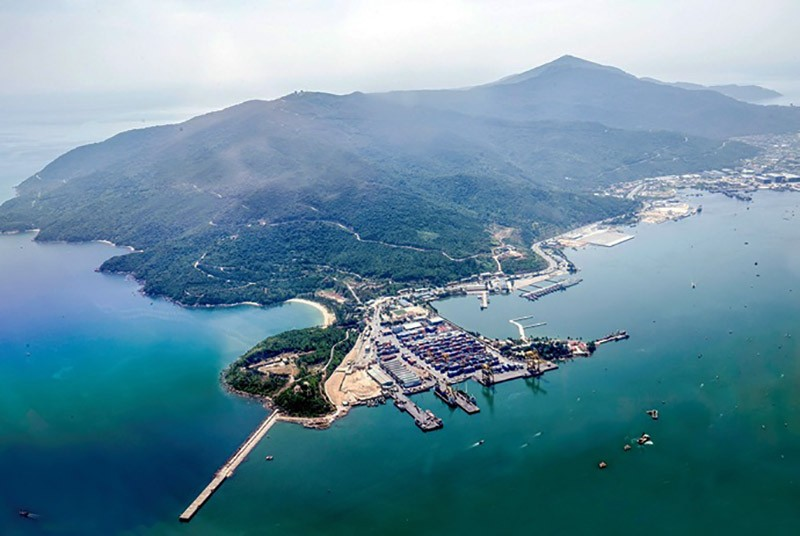 an aerial view of Son Tra Peninsula