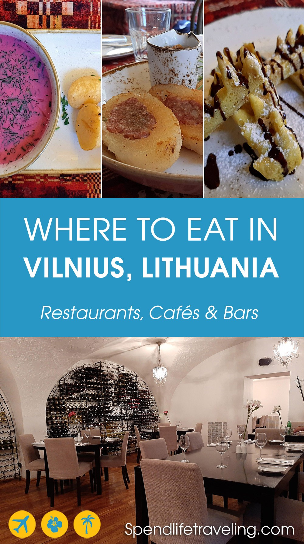 Recommendations for where to eat in Vilnius