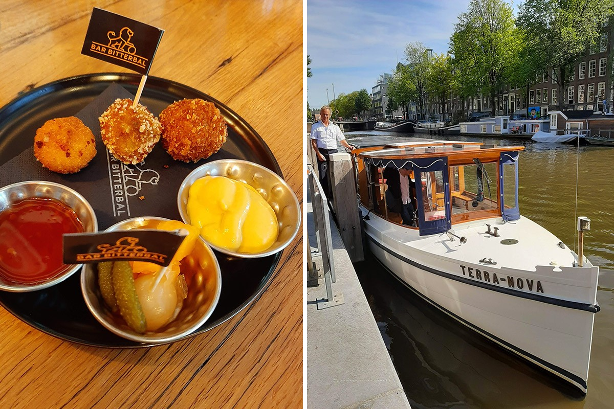 Amsterdam canal cruise and Amsterdam food tour