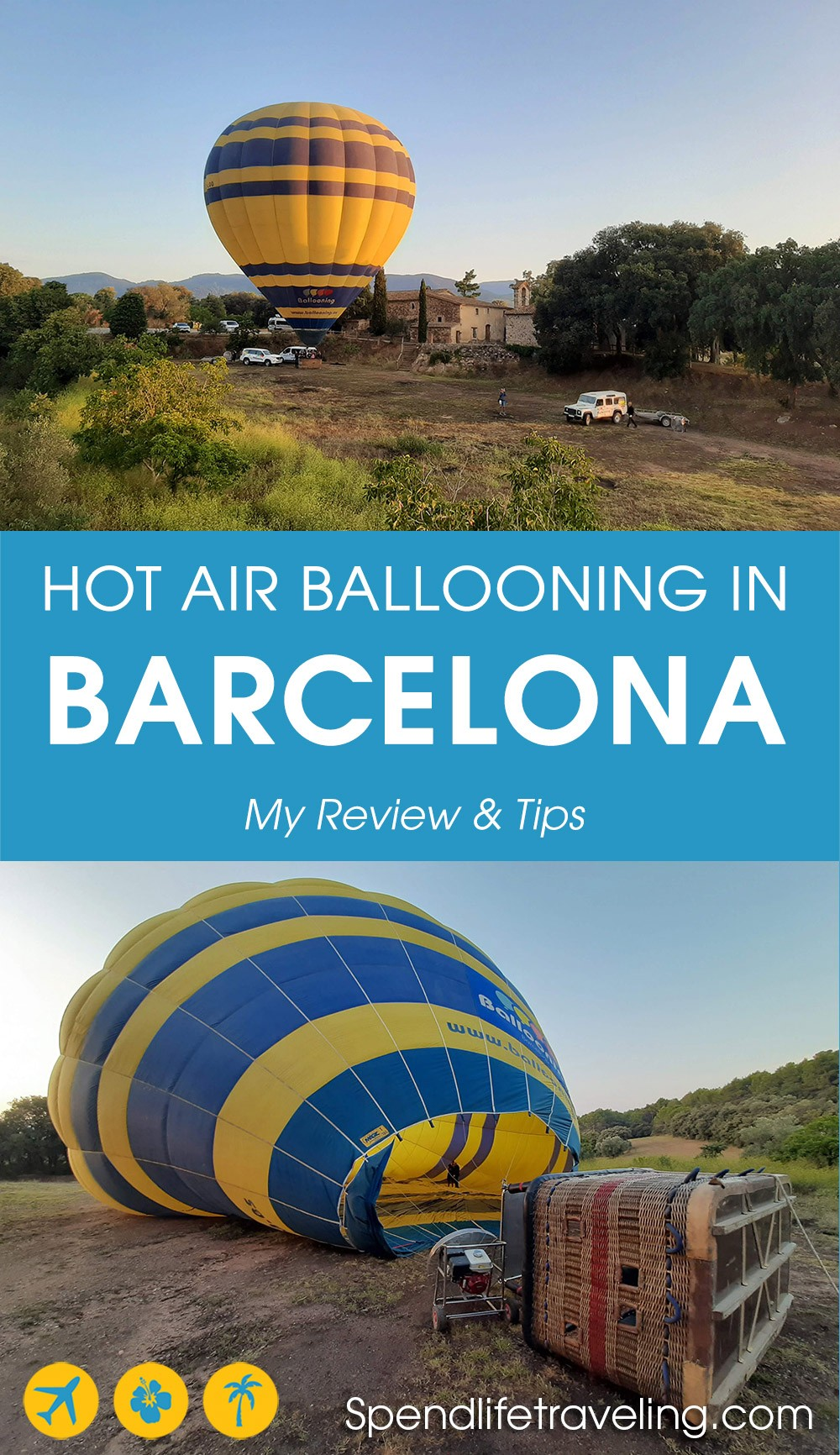 My review of a hot air balloon ride over the countryside outside of Barcelona, Spain
