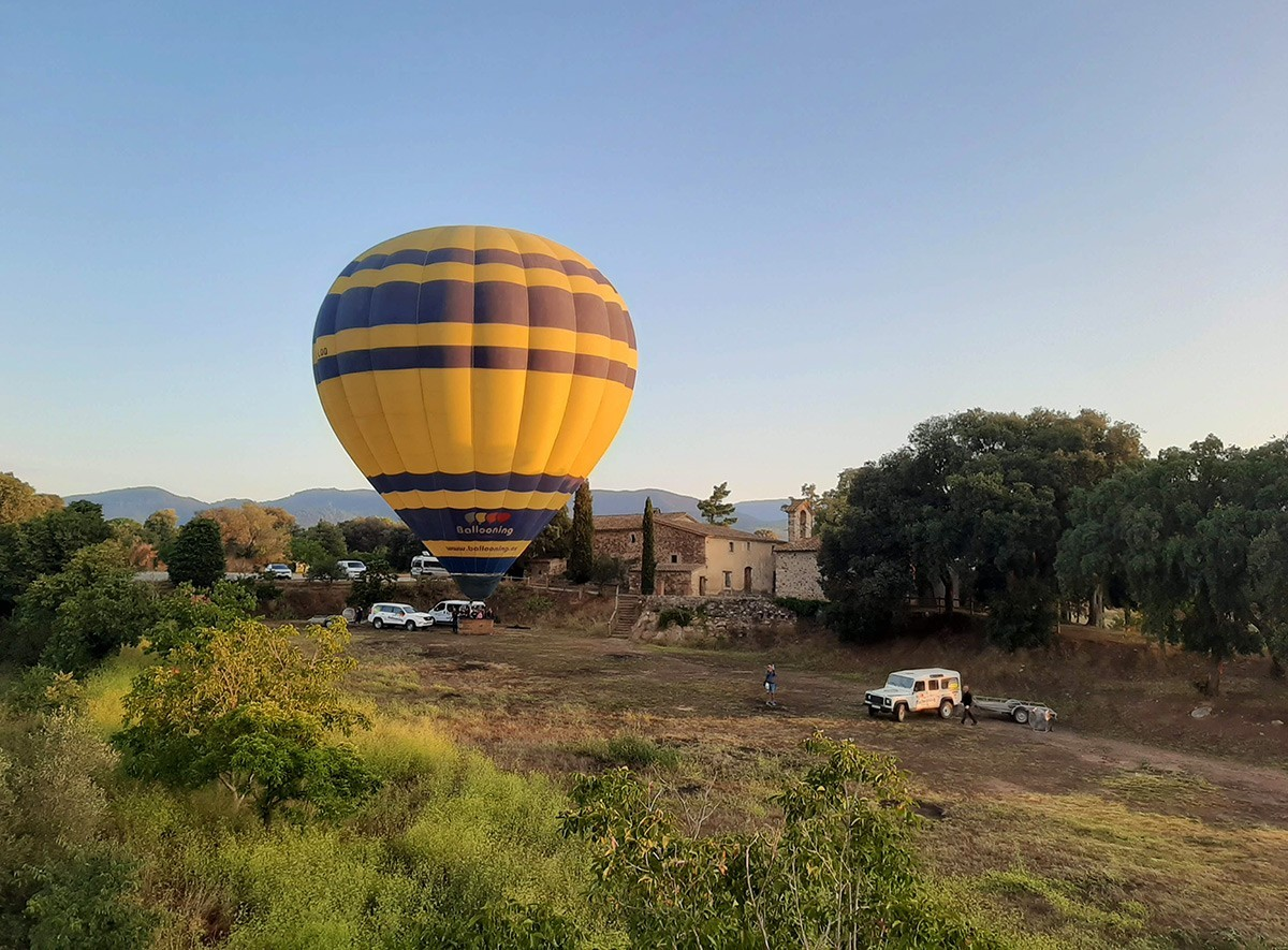 hot air ballooning Barcelona