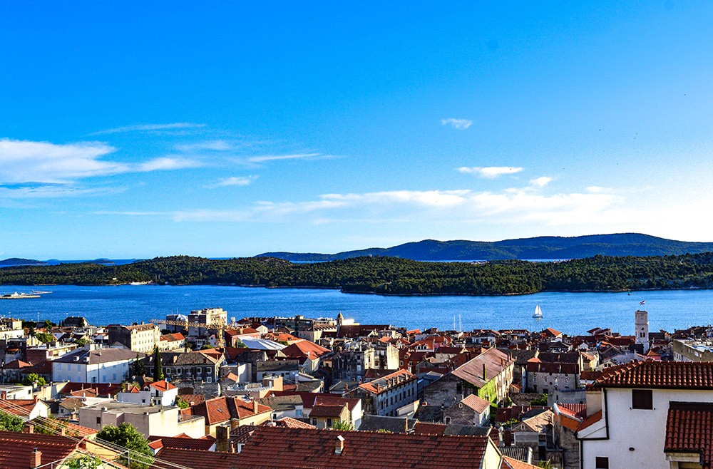 view over Šibenik, one of the best places to visit in Croatia