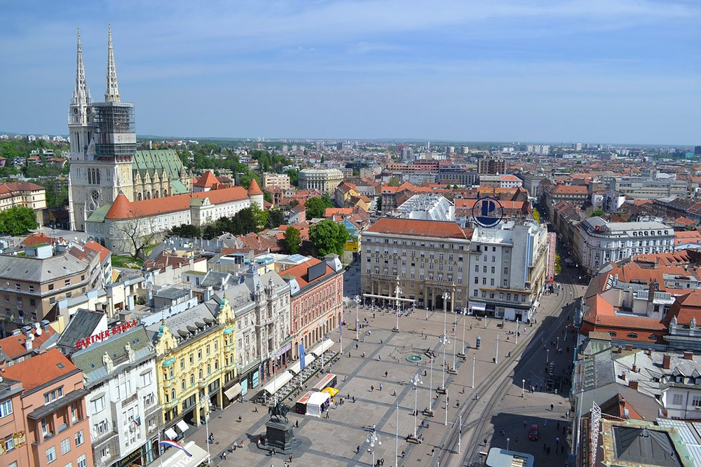 A view of Zagreb, Croatia