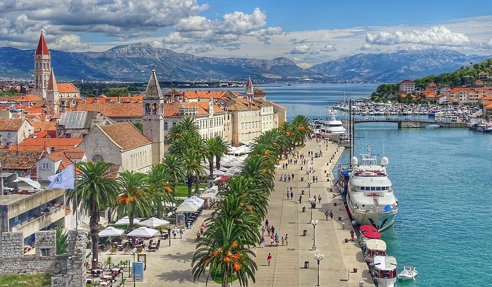 a view of Trogir, Croatia