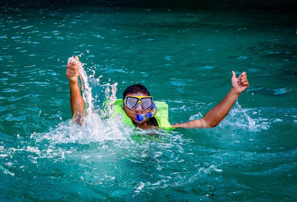 the first time snorkeling