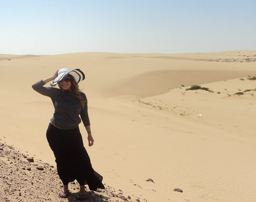 Ines, an expat living in Muscat