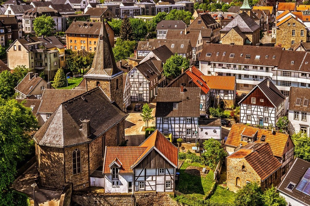 view of a small town in Germany