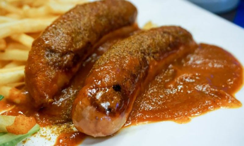 currywurst, a simple street food recipe