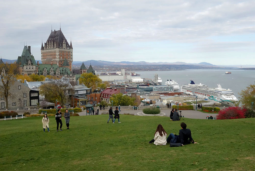 the start of your 2 days in Quebec City