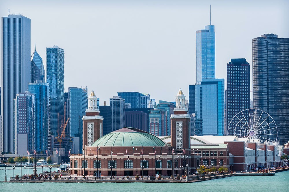 Navy Pier as seen from the water